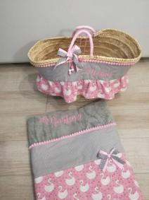 capazo y toalla animalitos regalo cumpleaños princesa playa verano comunión