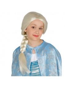 Peluca Infantil Princesa Hielo