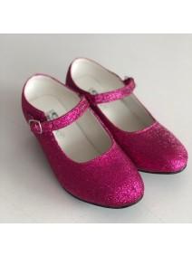 zapatos tacón purpurina rosa fucsia venta princesa