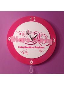 Reloj de pared para castillo de princesas