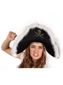 Sombrero Pirata con plumas