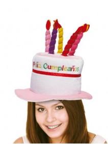 Sombrero cumpleaños con velas