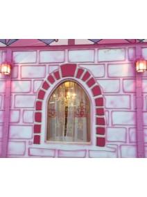 Ventana con cristal de policarbonato fresado con marcos y relieves e iluminación interior Led´s RGB