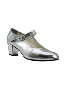zapato flamenco en plata