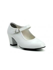 zapato flamenco en blanco