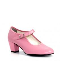 zapato flamenco en rosa niña