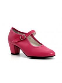 zapato flamenco en fucsia