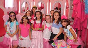 Castillo de princesas para celebrar cumpleaños niños